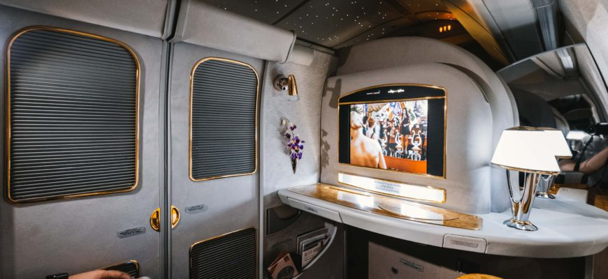Полёт первым классом Emirates Airlines